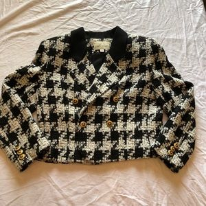 Lord & Taylor Black White Short Jacket Size 10